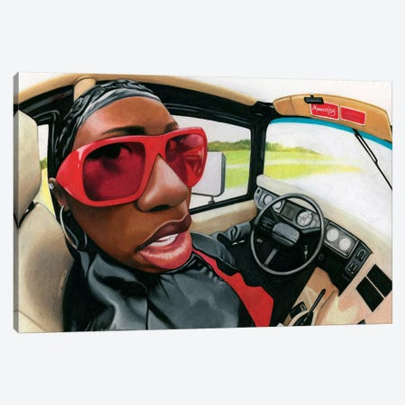 Missy Elliot Canvas Print #MNJ18} by Manasseh Johnson Canvas Wall Art