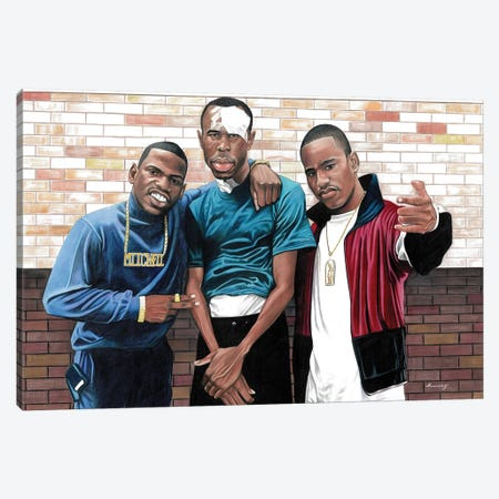 Paid In Full 3-Piece Canvas #MNJ19} by Manasseh Johnson Canvas Wall Art