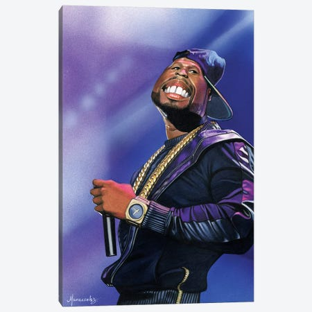 50 Cent Canvas Print #MNJ1} by Manasseh Johnson Canvas Artwork