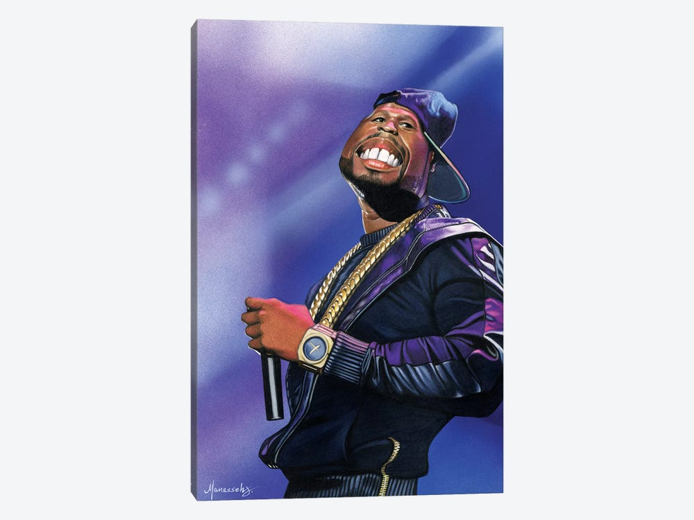 50 Cent by Manasseh Johnson 1-piece Canvas Art