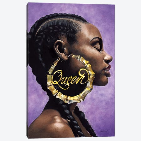 Queen Canvas Print #MNJ21} by Manasseh Johnson Canvas Art Print