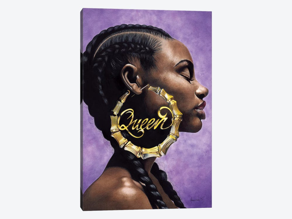 Queen by Manasseh Johnson 1-piece Canvas Print