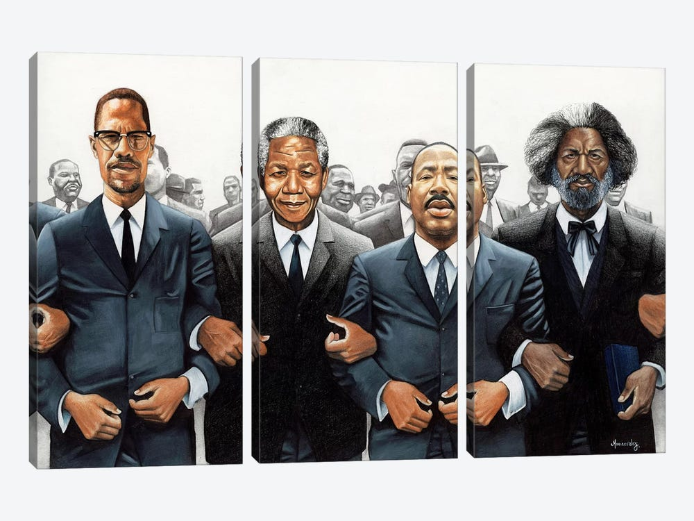 Strength In Numbers by Manasseh Johnson 3-piece Canvas Art