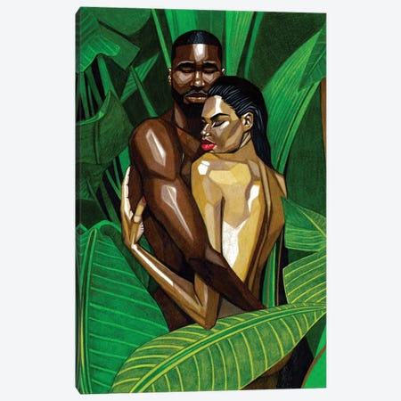 The Garden Canvas Print #MNJ25} by Manasseh Johnson Canvas Artwork