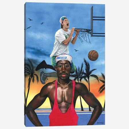 White Men Can't Jump Canvas Print #MNJ26} by Manasseh Johnson Canvas Art