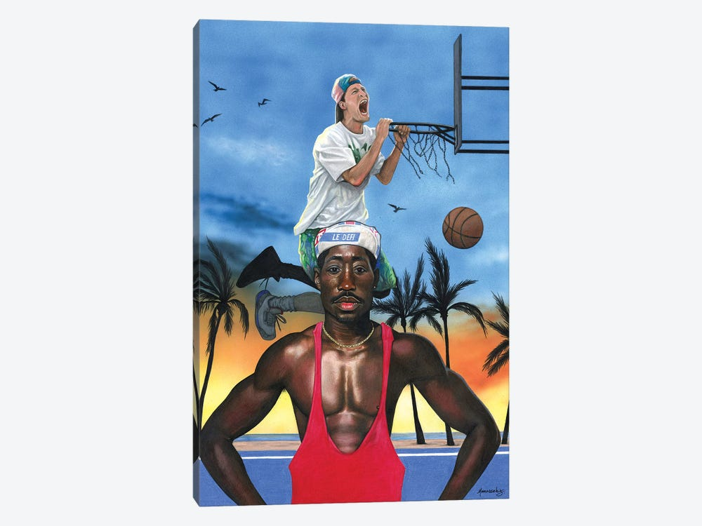 White Men Can't Jump by Manasseh Johnson 1-piece Canvas Art