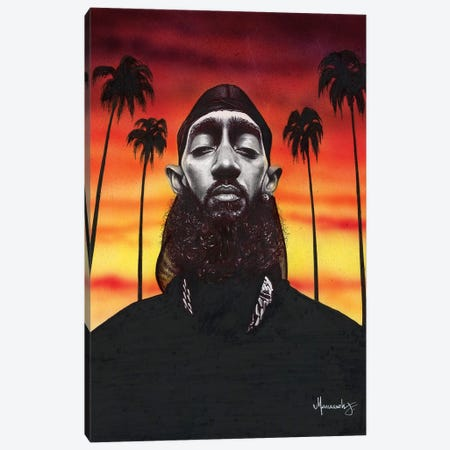 Nipsey Hussle Canvas Print #MNJ27} by Manasseh Johnson Canvas Wall Art