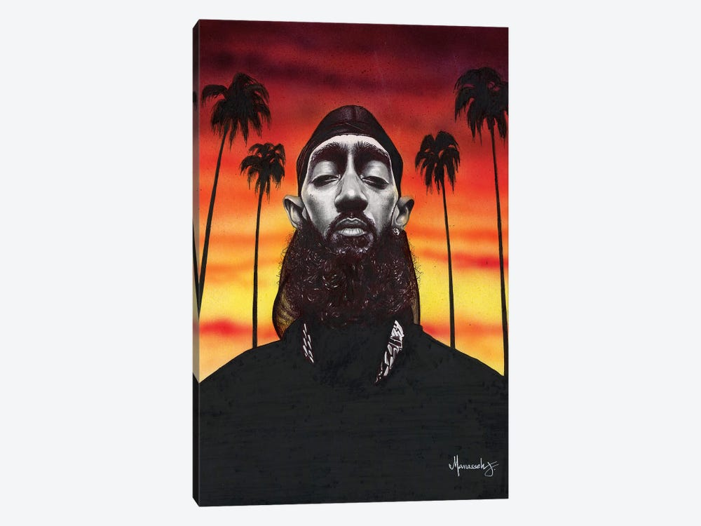 Nipsey Hussle by Manasseh Johnson 1-piece Art Print
