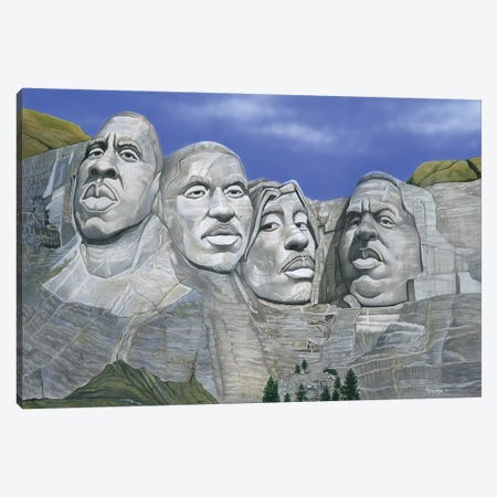 Hip-Hop Mt. Rushmore Canvas Print #MNJ29} by Manasseh Johnson Canvas Art Print
