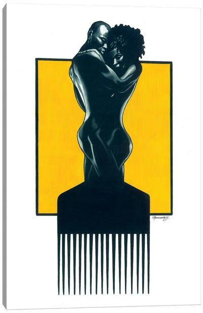 Afropick Couple Canvas Art Print