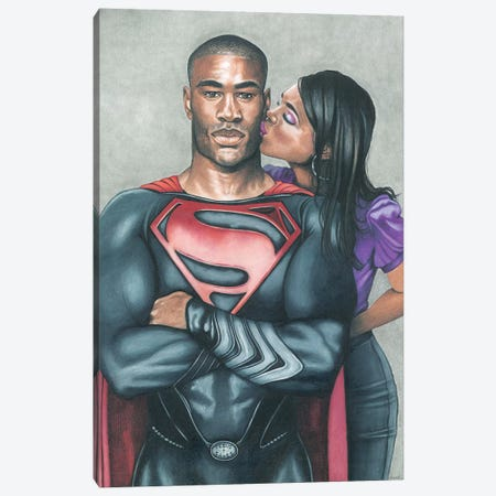 Superman Canvas Print #MNJ31} by Manasseh Johnson Canvas Artwork