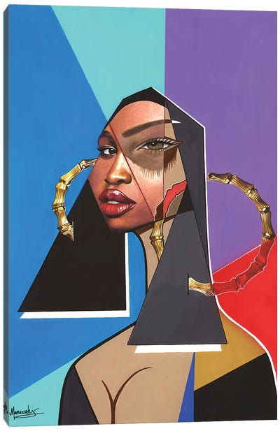 Black Mona Lisa Canvas Art Print