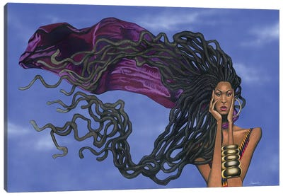 Locs In The Wind Canvas Art Print
