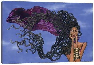 Locs In The Wind Canvas Art Print