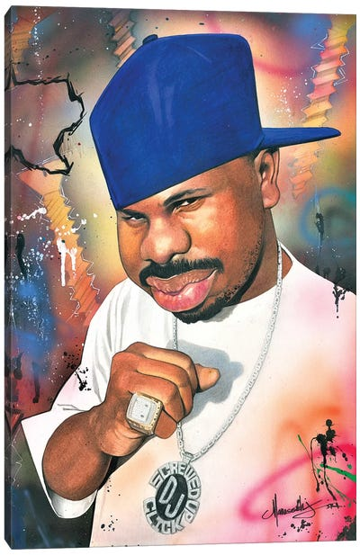 DJ Screw Canvas Art Print