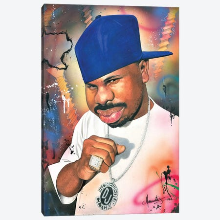 DJ Screw Canvas Print #MNJ36} by Manasseh Johnson Canvas Art Print