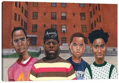 Boyz N Da Hood (Hiphop Legends) Canvas Art Print