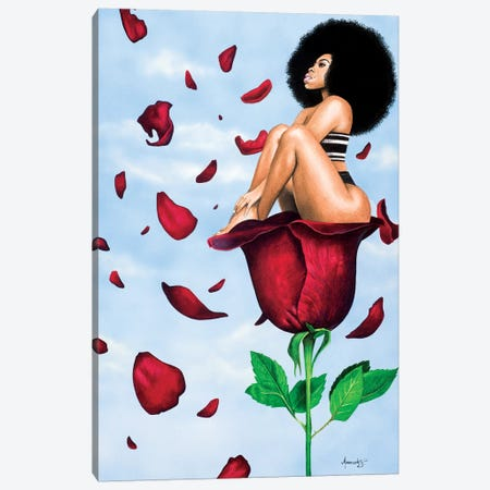 Afroses Canvas Print #MNJ3} by Manasseh Johnson Canvas Artwork