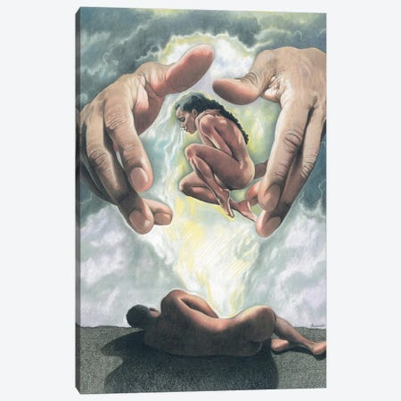 Creation Of Woman Canvas Print #MNJ43} by Manasseh Johnson Art Print