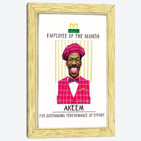 Akeem, Employee Of The Month Canvas Print #MNJ4} by Manasseh Johnson Canvas Print