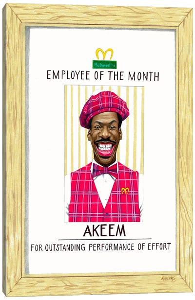 Akeem, Employee Of The Month Canvas Art Print