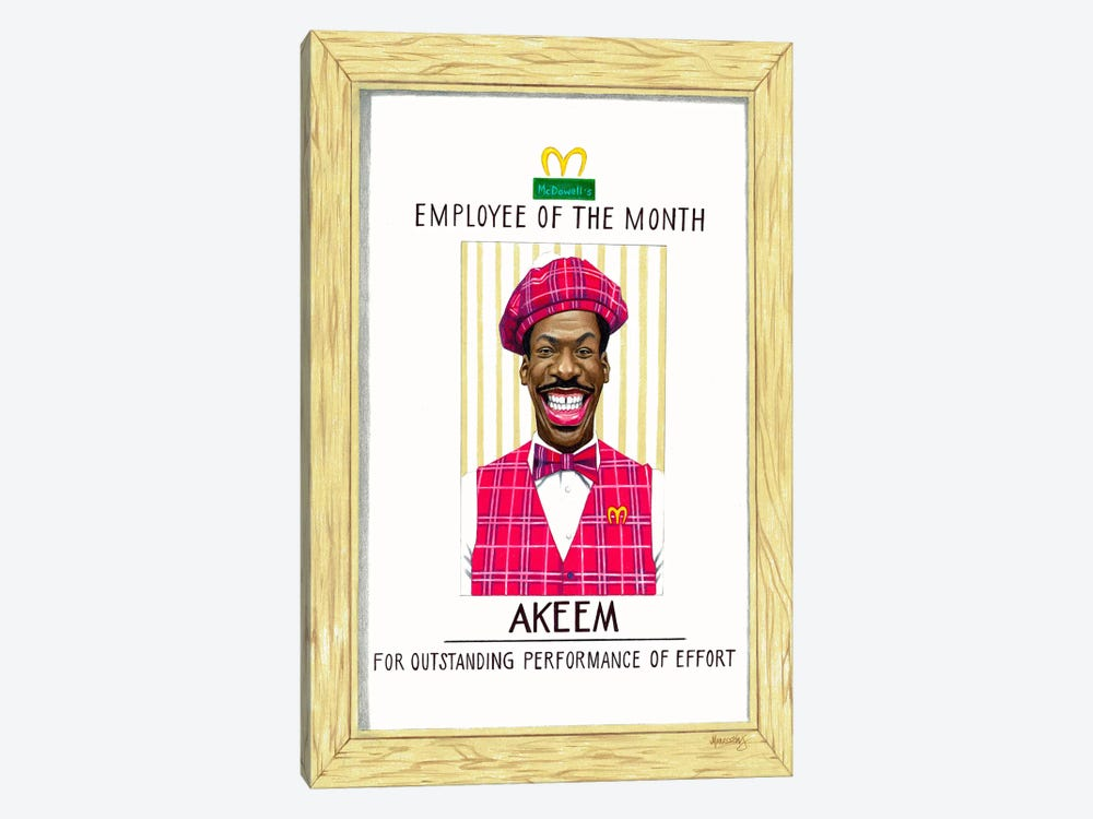 Akeem, Employee Of The Month by Manasseh Johnson 1-piece Canvas Print