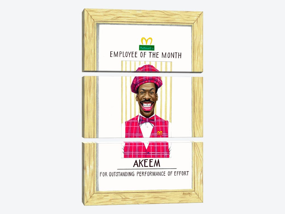 Akeem, Employee Of The Month by Manasseh Johnson 3-piece Art Print