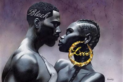 Black Love Canvas Wall Art By Manasseh Johnson Icanvas