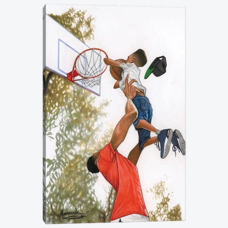 Take Your Shot Canvas Print #MNJ52} by Manasseh Johnson Canvas Art
