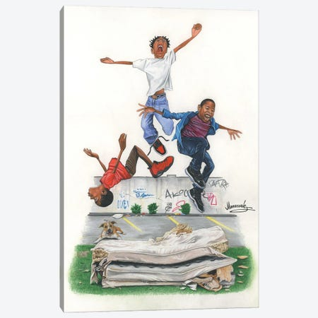 Back In The Day Canvas Print #MNJ55} by Manasseh Johnson Art Print