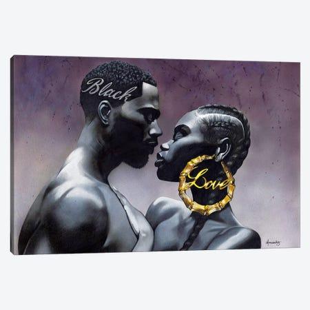 Black Love 3-Piece Canvas #MNJ5} by Manasseh Johnson Canvas Print