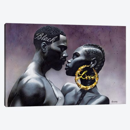 Black Love Canvas Print #MNJ5} by Manasseh Johnson Canvas Print