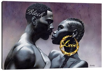 Black Love Canvas Art Print