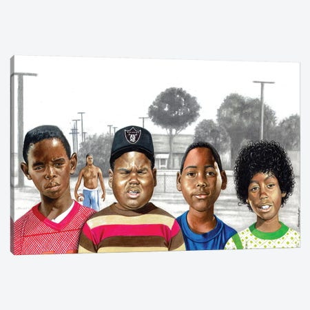 Boys In The Hood Canvas Print #MNJ6} by Manasseh Johnson Art Print