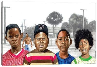 Boys In The Hood Canvas Art Print