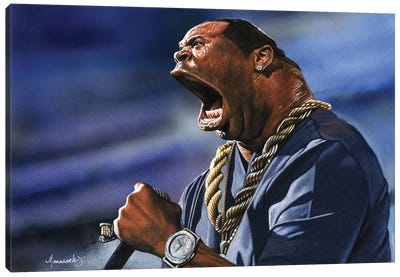 Busta Canvas Art Print