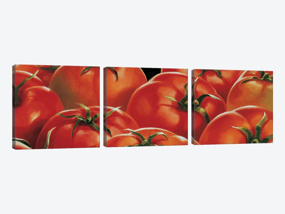 Pomodori by Stefania Mottinelli 3-piece Canvas Artwork