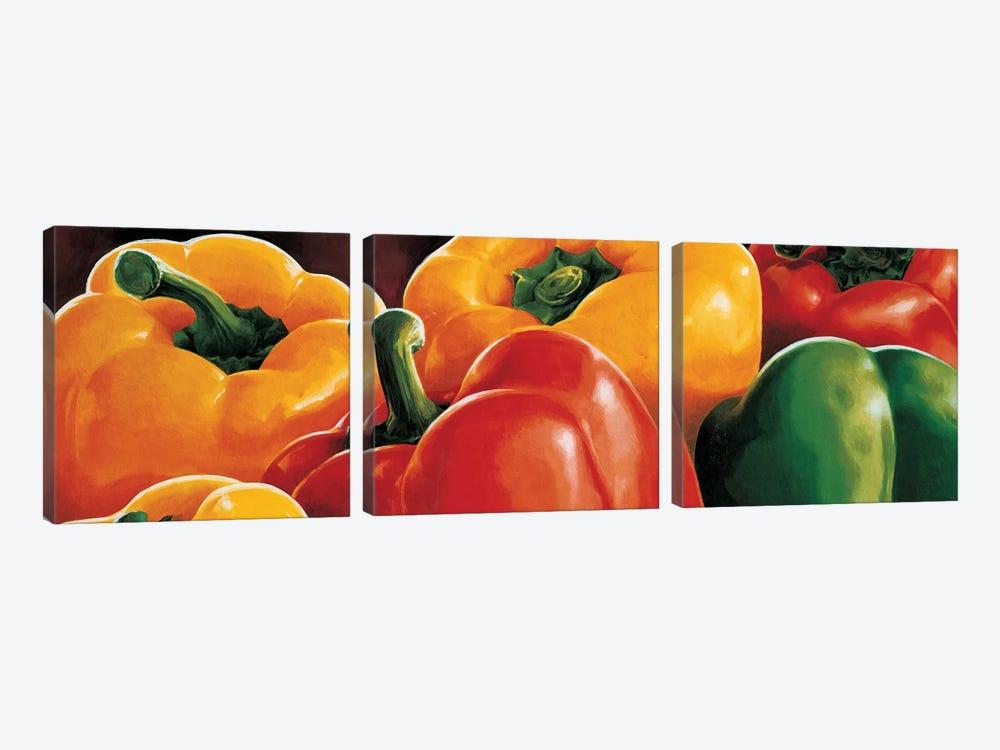 Peperoni by Stefania Mottinelli 3-piece Canvas Print