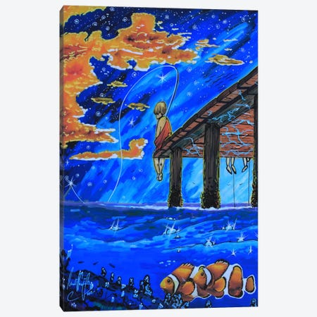 Go Fishing Canvas Print #MNM13} by Martin Nasim Canvas Art Print