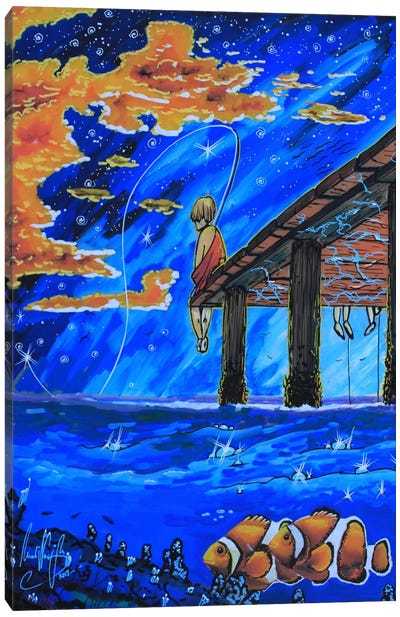 Go Fishing Canvas Art Print