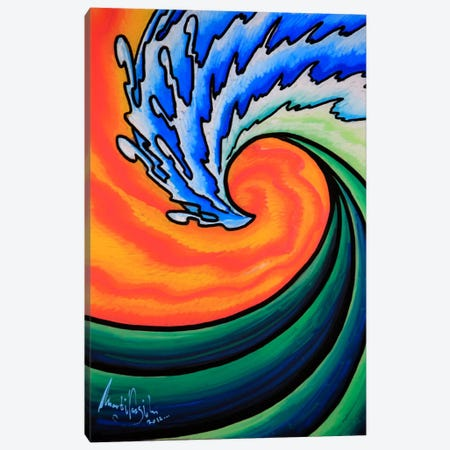 Great Wave Canvas Print #MNM14} by Martin Nasim Canvas Wall Art