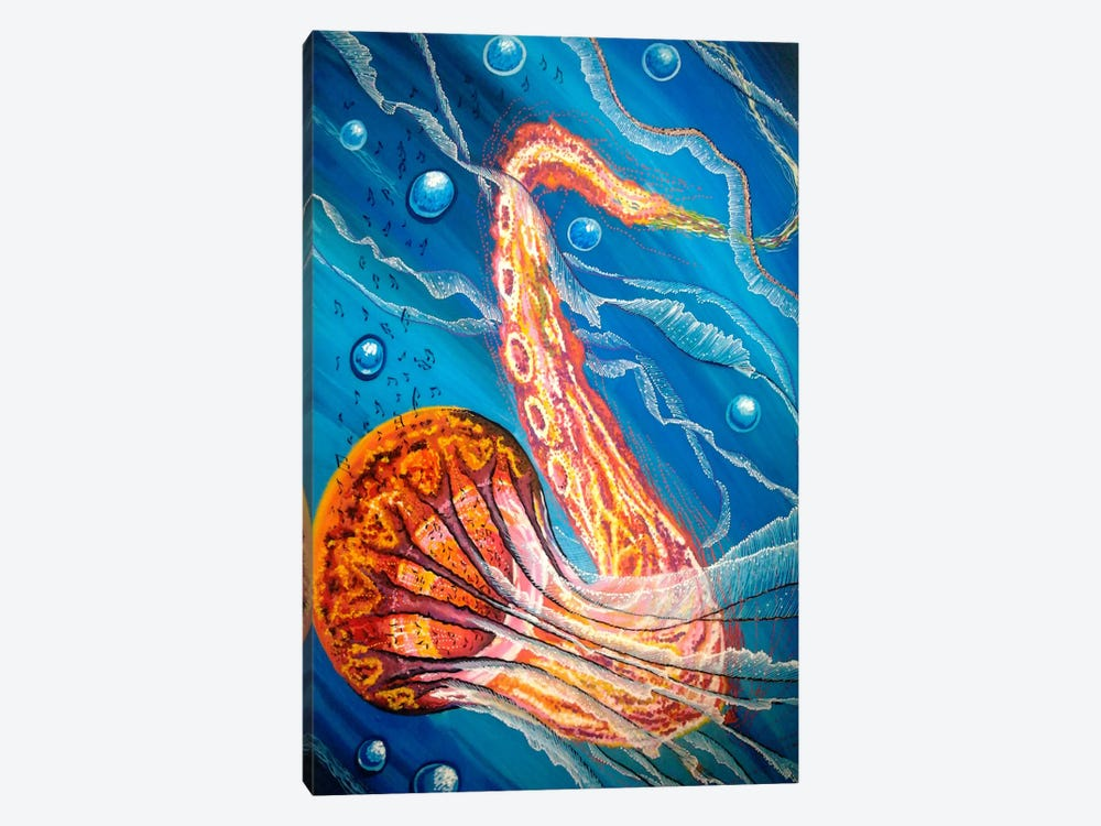 Jazzifish 1-piece Canvas Wall Art
