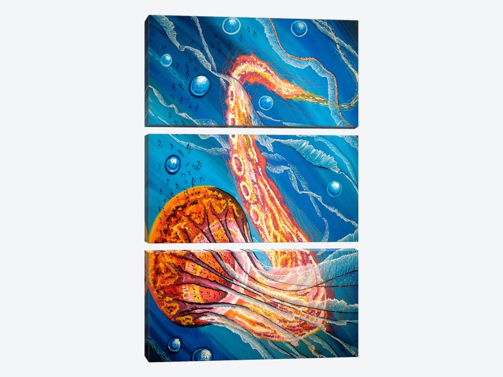 Jazzifish by Martin Nasim 3-piece Canvas Art
