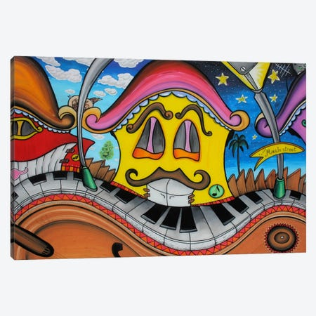 Music Street Canvas Print #MNM25} by Martin Nasim Canvas Print