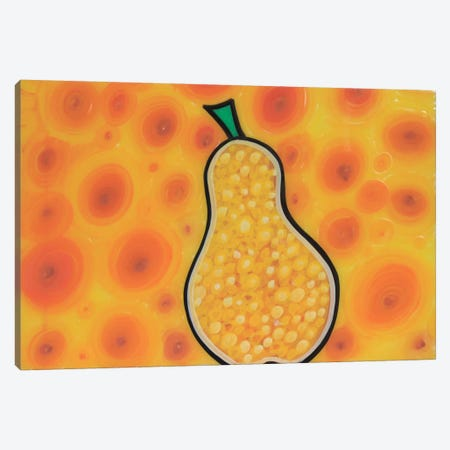 Pear Canvas Print #MNM28} by Martin Nasim Canvas Artwork