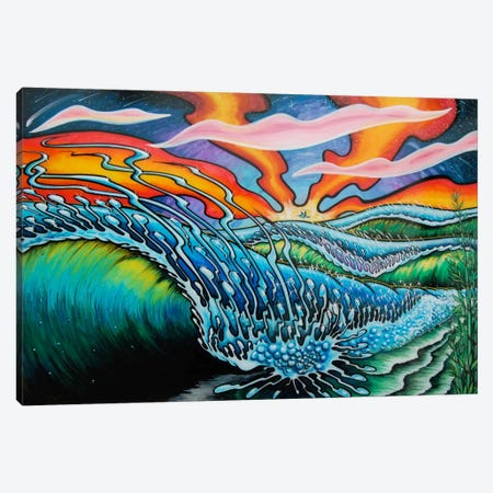 Playa Canvas Print #MNM29} by Martin Nasim Canvas Art