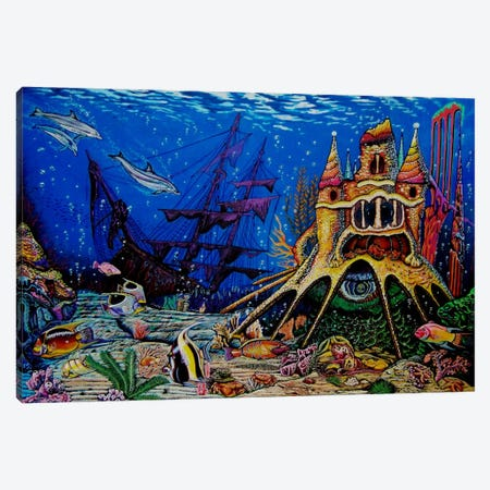 Underwater World Canvas Print #MNM35} by Martin Nasim Canvas Wall Art