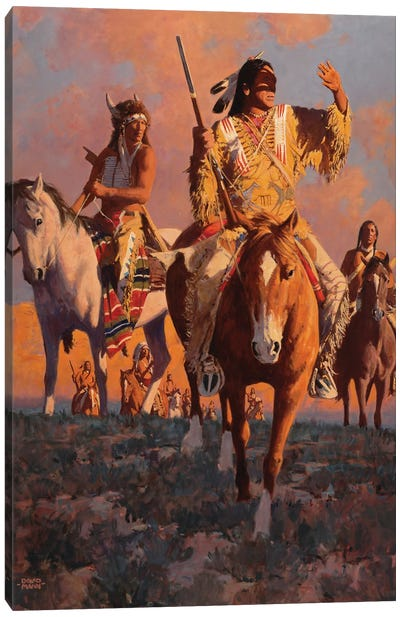 Camanche Sundown Canvas Art Print