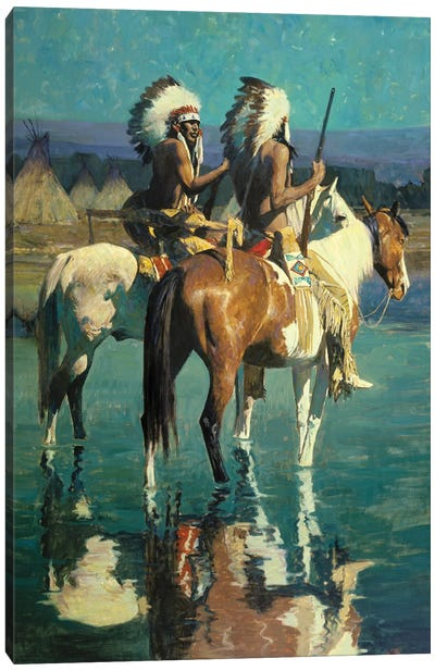 Cheyenne Camp Canvas Art Print