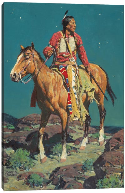 Full Moon Scout Canvas Art Print